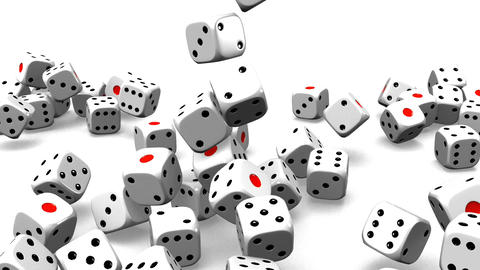 Dice On White Background Stock Video Footage
