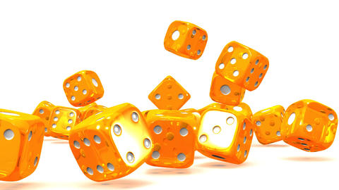 Orange Dice On White Background CG動画