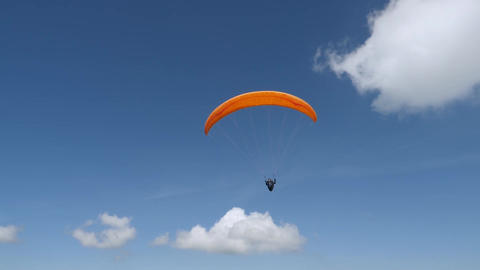 person flying on paraglide Footage