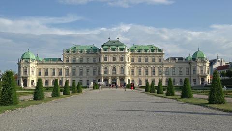 Belvedere palace in Vienna Footage