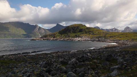 View on Knuten peak, Senjahopen, Norway Image