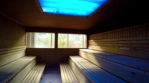 Sauna Hot Empty Filmmaterial