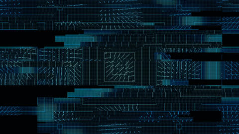 Technological Digital glitch background with 3d cubes Footage
