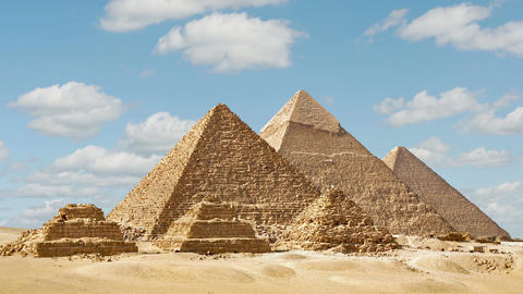Timelapse Of The Great Pyramids In Giza Valley, Cairo, Egypt Image