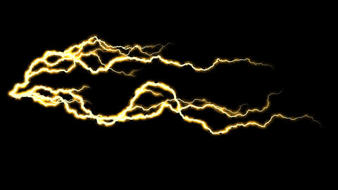 Electricity crackling. Abstract background with electric arcs. Realistic Footage