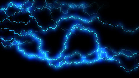Electricity crackling. Abstract background with electric arcs. Realistic Live Action