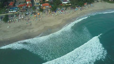 Aerial view on the beach. Bali. Ocean Filmmaterial