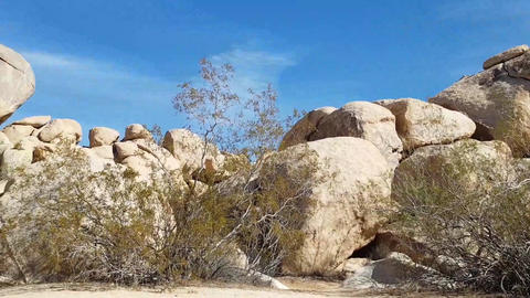Big rocks, Motion time lapse of rock piles in Joshua tree... Stock Video Footage