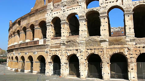 Colosseum - the main tourist attractions of Rome, Italy. Ancient Rome Ruins of Live Action