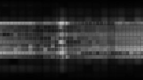 Dark grey pixelated squares mosaic video animation Animation
