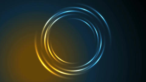 Shiny glowing neon circle swirl video animation Animation