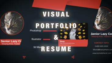 Visual Portfolio & Resume Plantilla de After Effects