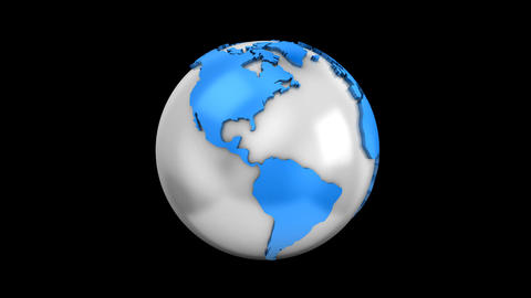 World Map Turns Into a Globe Animación