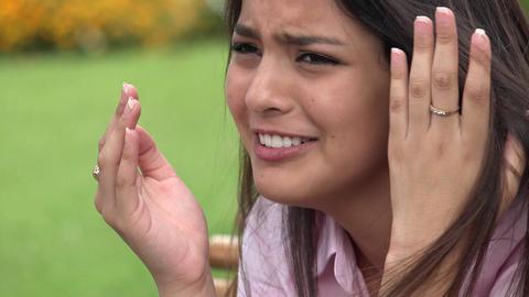 Teen Girl Crying Footage