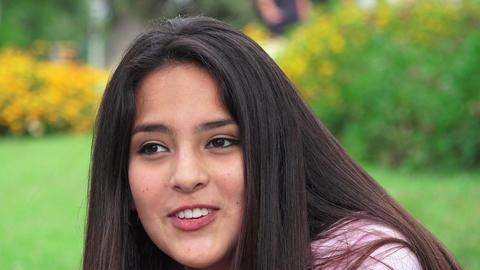 Pretty Hispanic Teen Girl Footage