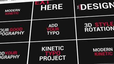 Kinetic Typography After Effectsテンプレート