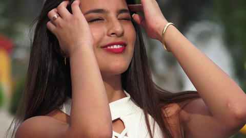 Happy Smiling Beautiful Female Teen Footage