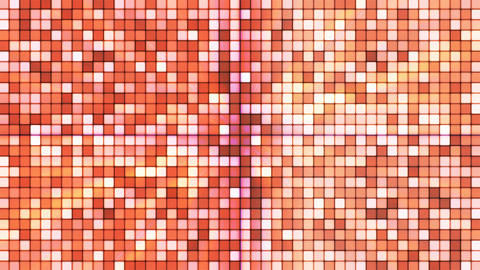 Broadcast Twinkling Hi-Tech Cubes, Orange, Abstract, Loopable, 4K Animation