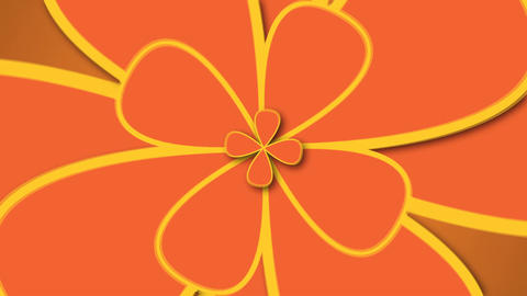 Abstract background with retro flowers. Modern backdrop Footage