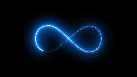 Abstract background with infinity sign. Digital background Footage