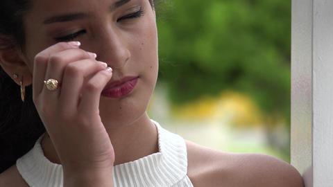Sad Tearful Female Teen Footage