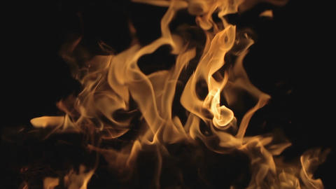 Fire on black background Footage