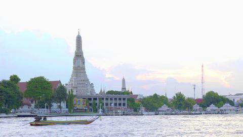 Wat Arun landmark travel in Thailand Footage