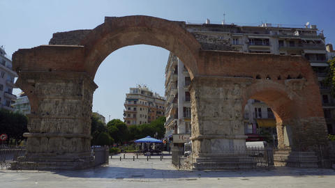Galerius Arch - Kamara Thessaloniki day view Live Action