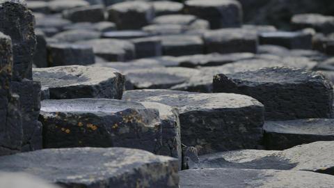 Giant Causeway Basalt Columns, Northern Ireland - Graded Version Footage