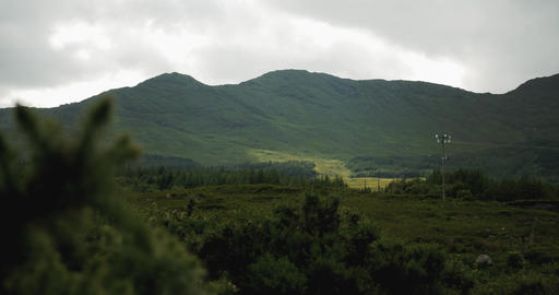 Landscape At The Ring Of Kerry, County Kerry, Ireland - Graded Version Footage