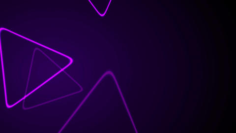 Purple retro neon shiny triangles motion background Animation