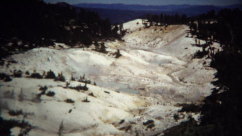 1971: Bumpas Hell wasteland volcanic steam vents hot pools Footage