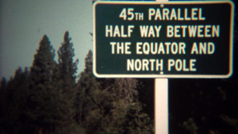 1971: 45th parallel halfway between equator and north pole Footage