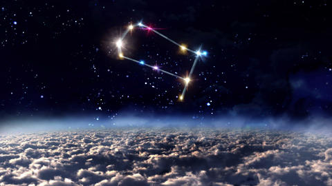 03 Gemini horoscopes of zodiac sign space Animation