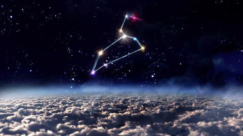 05 Leo horoscopes of zodiac sign space Animation