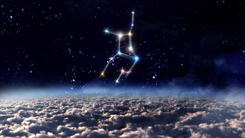 06 Virgo Horoscopes space Animation
