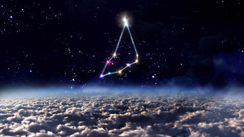 10 Capricorn horoscopes of zodiac sign space Animation