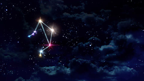 07 Libra horoscopes of zodiac sign night Animation