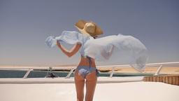 Bikini Female Enjoying The Cruise