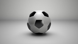 Football 3D Modell
