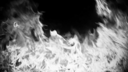 Fire Black and White Animation
