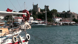 Turkey the Aegean Sea Bodrum 009 knight castle seen from harbor Footage