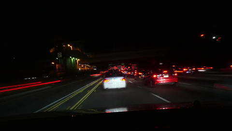 Traffic in Los angeles, Night time lapse of heavy traffic, at a evening, on Live Action