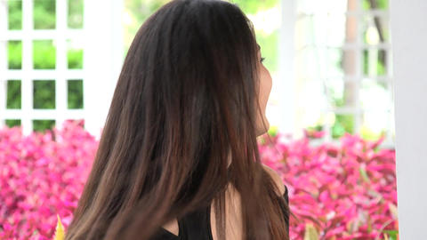 Female Teenager With Pretty Face Stock Video Footage