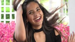 Happy Female Teenager Footage