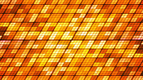 Broadcast Twinkling Slant Hi-Tech Cubes, Orange, Abstract, Loopable, 4K Animation