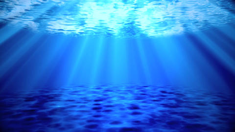 Blue Ocean Sea Underwater Environment Background Backdrop Animation