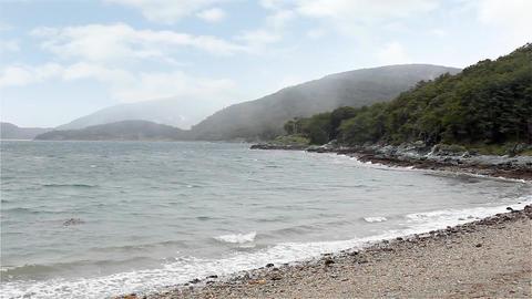 Coast In The Beagle Channel, Tierra Del Fuego Footage