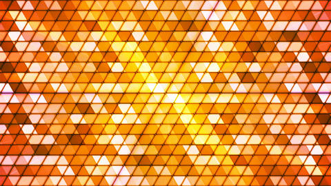 Broadcast Twinkling Cubic Hi-Tech Triangles, Orange, Abstract, Loopable, 4K Animation