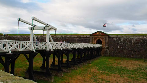 Fort George, Inverness, United Kingdom - 20 august 2017: Fort George's main Live Action
